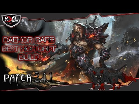 Diablo 3 RoS [Patch 2.4.1] Bester Raekor Barb | Felswurf High-Grift [Step-by-Step] ➥ Let's Build