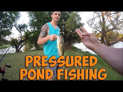 Pressured Pond Fishing For Bass | Oklahoma City #GoPRO Fishing