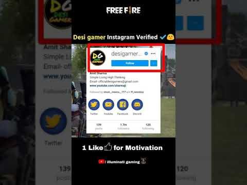Download Desi gamer Instagram Verified ✔️😮 Garena Free Fire #shorts #freefire #desigamers