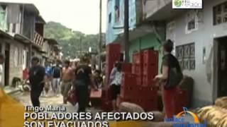 Tingo María: Nuevo desborde de río Huallaga deja dos mil afectados