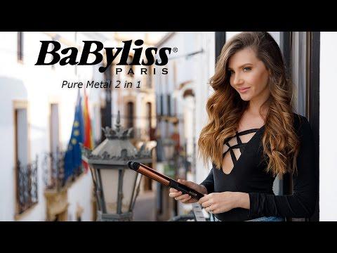 Babyliss Placa 2 in 1 Pure Metal pentru par perfect drept sau bucle lejere