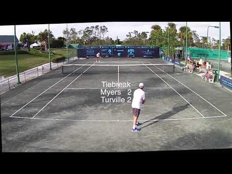 Mark Myers vs Larry Turville Men's 65 Singles, Category II, Naples Florida