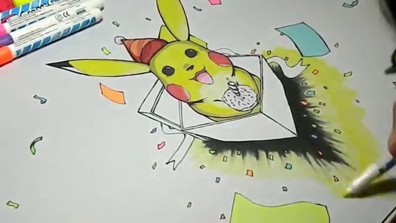 Drawing Happy Birthday Pikachu Pokemon Playmat
