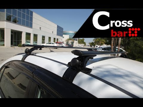 universal rooftop roof rack crossbar installation guide by lt sport cb bu n