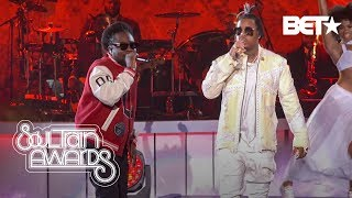 "Wale Performs ""On Chill"" and ""Sue Me"" With Jeremih & Kelly Price Soul Train Awards '19"