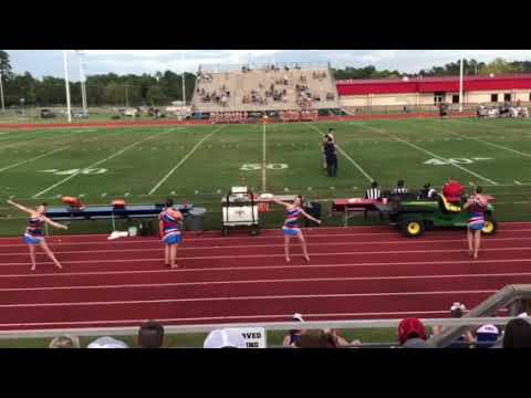 Sabine Middle School Twirlers 1st Football Game