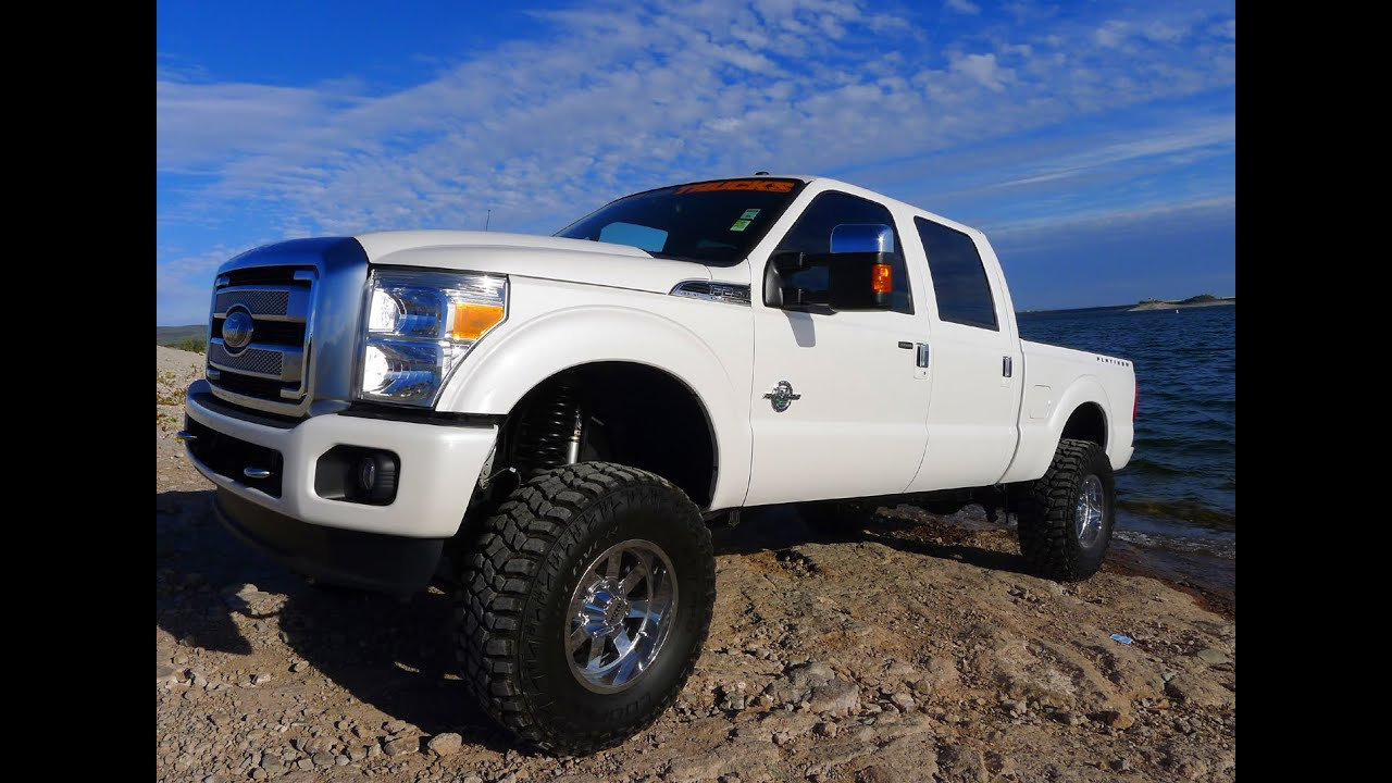 2014 Ford F 250 Crew Cab >> 2014 FORD F-250 PLATINUM SUPER DUTY CREW CAB DIESEL LIFTED TRUCK - YouTube