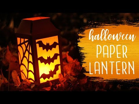 Halloween Paper Lantern Tutorial (Paper Cutting) 🏮 DIY Halloween Decor | BOOtorials