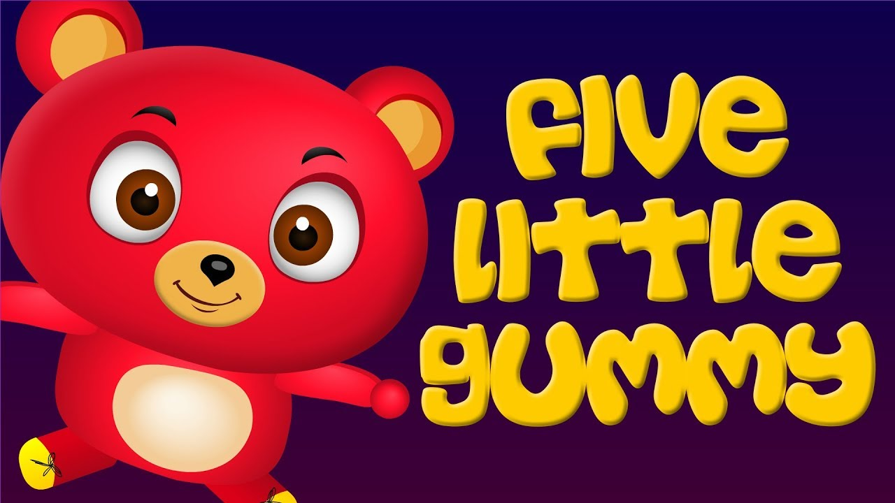 Five Little Babies Jumping On The Bed   cute gummy Jumping On The Bed   Funny Babies Cartoon