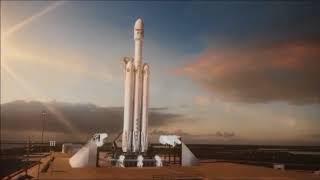 Décollage de Falcon Heavy, la fusée la plus puissante du monde