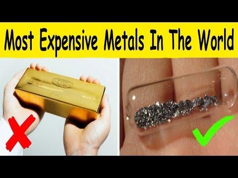 World's 10 Most Expensive Metals, ((Precious Metals))