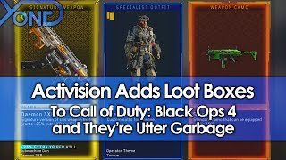 Activision Adds Loot Boxes to Black Ops 4, and They're Utter Garbage