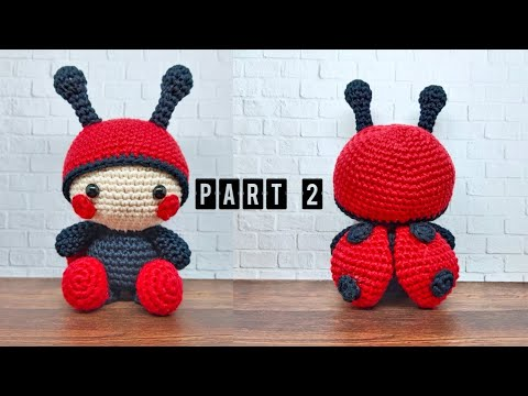 Amigurumi Ladybug Pattern | Crochet fairy, Yarn projects crochet ... | 360x480