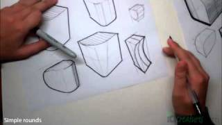 Sketching tutorial How to draw Simple Rounds
