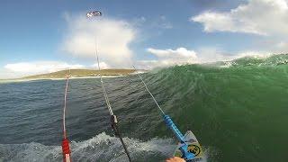 Big Wave Kiting Tiree Scotland - Kitesurfing extreme waves - Kiteboarding - GoPro - My Kite Minute