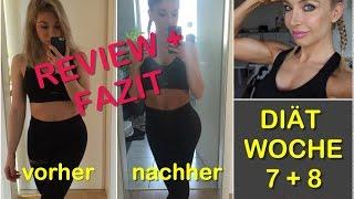 ENDE DER DIÄT - WOCHE 7 + 8 - ENDGEWICHT   VERLAUF   MAKROS   FAZIT   VORHER vs. NACHHER