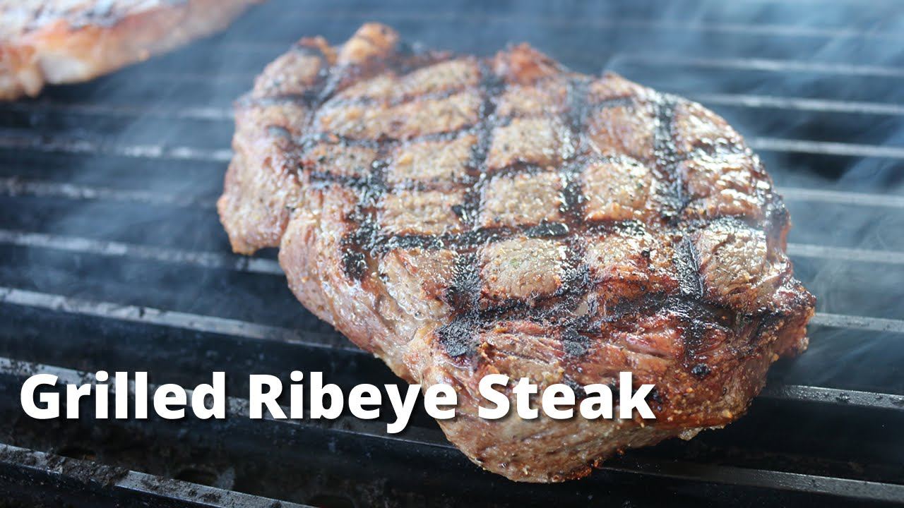 Grilled Ribeye Steaks On Weber Kettle Grilled Rib Eye