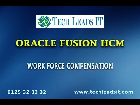 Oracle Fusion HCM Cloud Compensation Workforce Management guide