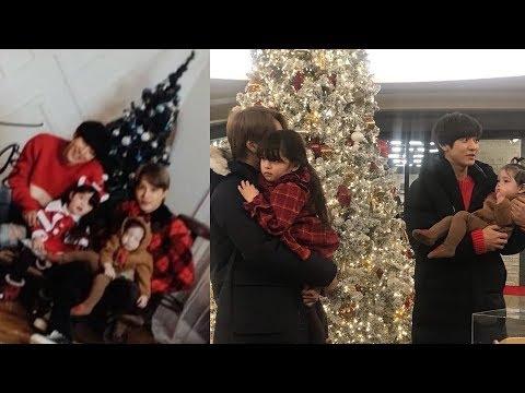 "181210 EXO Chanyeol & Kai Filming ""Return Of Superman"" With Naeun & Geonhoo"