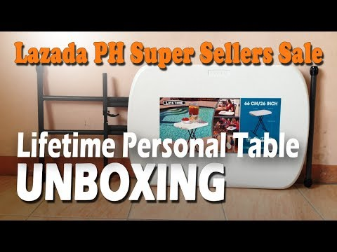 Lifetime Personal Table Unboxing (Lazada PH Super Sellers Sale)