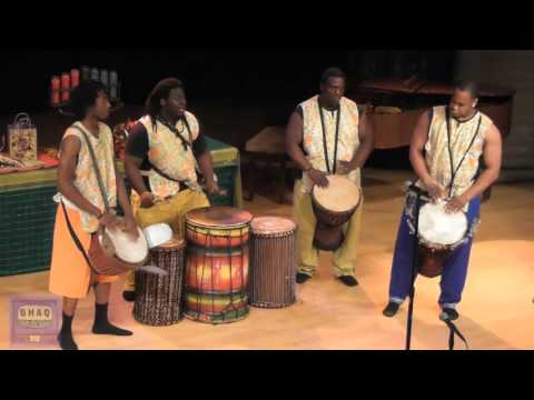African American tradition of Kwanzaa with African drum