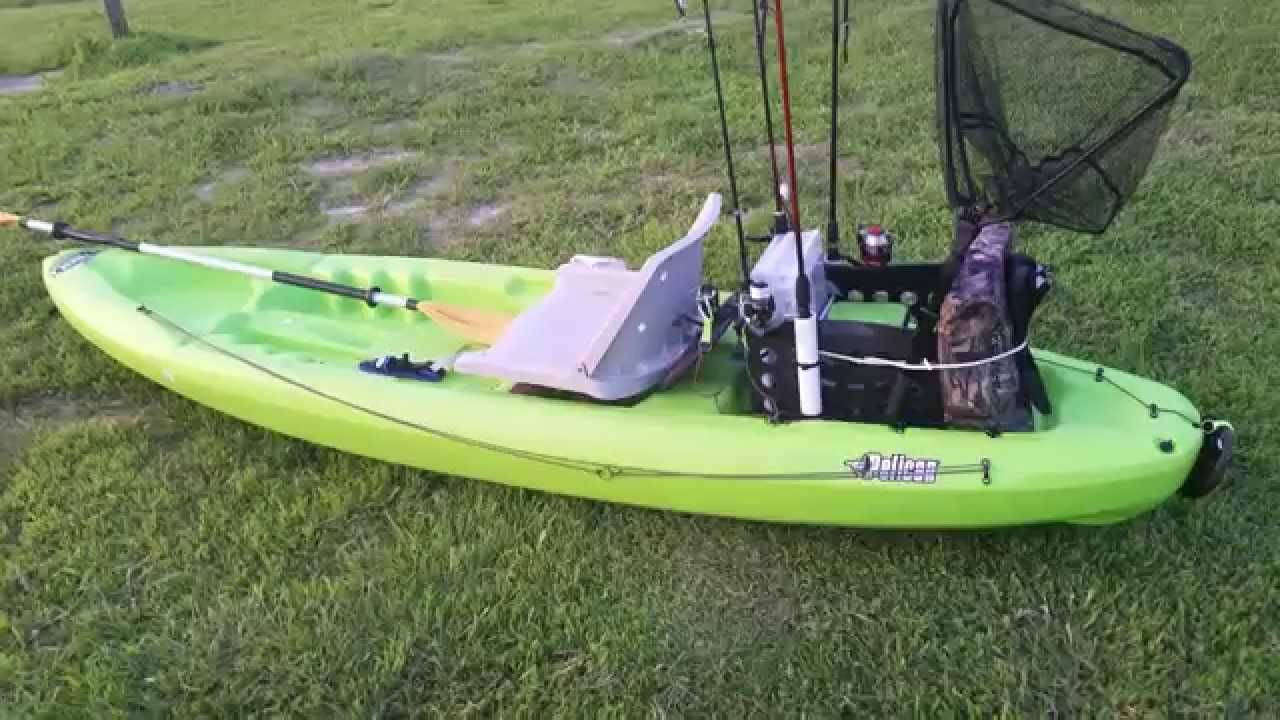 Jeffs 2015 Pelican Boost 100 Kayak Angler Setup