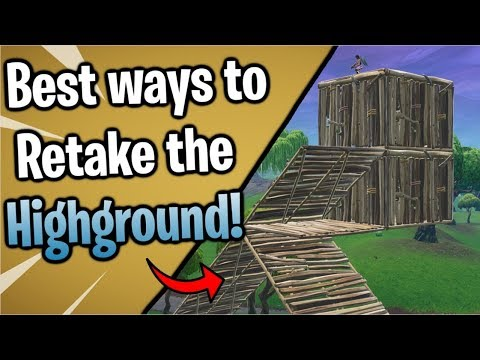 Fortnite: The BEST Ways To Retake HIGH GROUND! ( Beginner, Intermediate And Advanced Methods! )