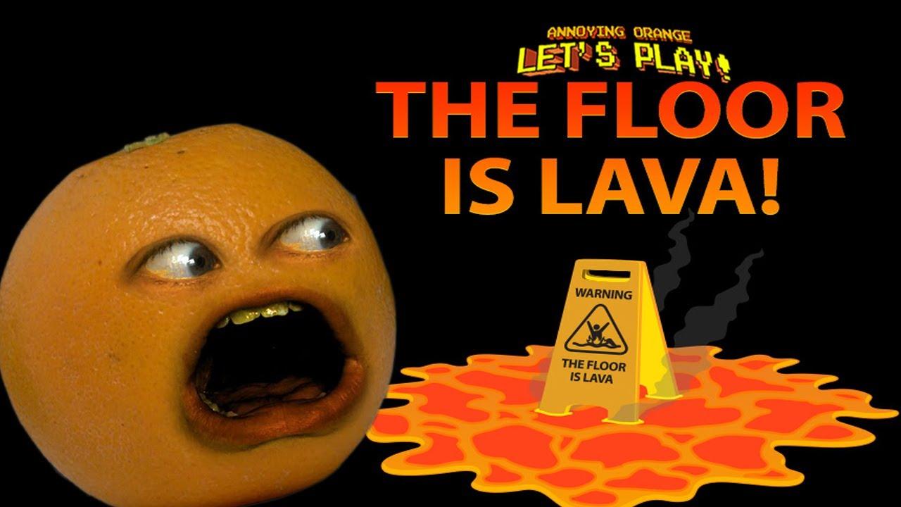 annoying orange plays  floor  lava youtube