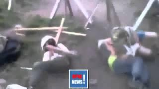 Славянск дети играют в войну!Украина сегодня нов�