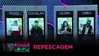 Casais eliminados disputam por nova vaga no Power Couple