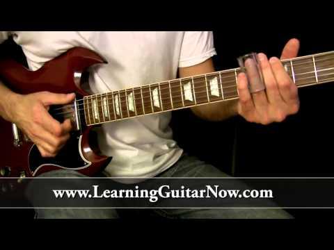 Standard Tuning Slide Guitar Lesson