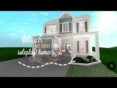 Bloxburg Blush Two Story Roleplay House 30k Youtube