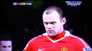 Wayne Rooney Fail Penalty Miss Vs Arsenal 13/12/10