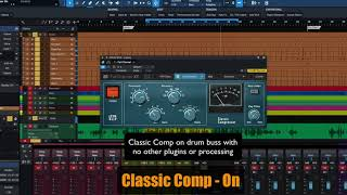 PreSonus Fat Channel Plug-in Demo: Classic Comp
