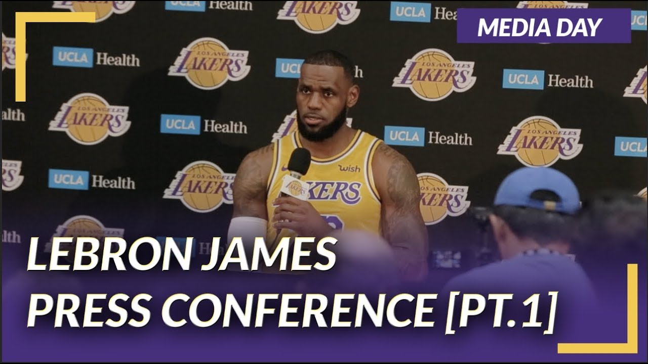 40555859b Lakers Press Conference  LeBron James on Media Day  PT.1  - YouTube