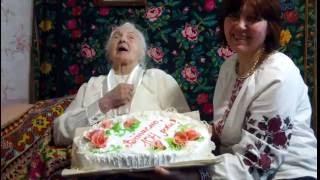 Ольга Петрівна Майборода, 104 роки, найстаріша людина Полтави.