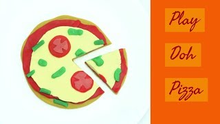 How to make a Pizza from Play Doh I Moulding Clay Ideas for Kids