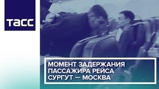 Момент задержания пассажира рейса Сургут — Москва