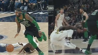 Masked Kyrie Irving Got Darren Collison Leaning! Celtics vs Pacers 2017-18 Season