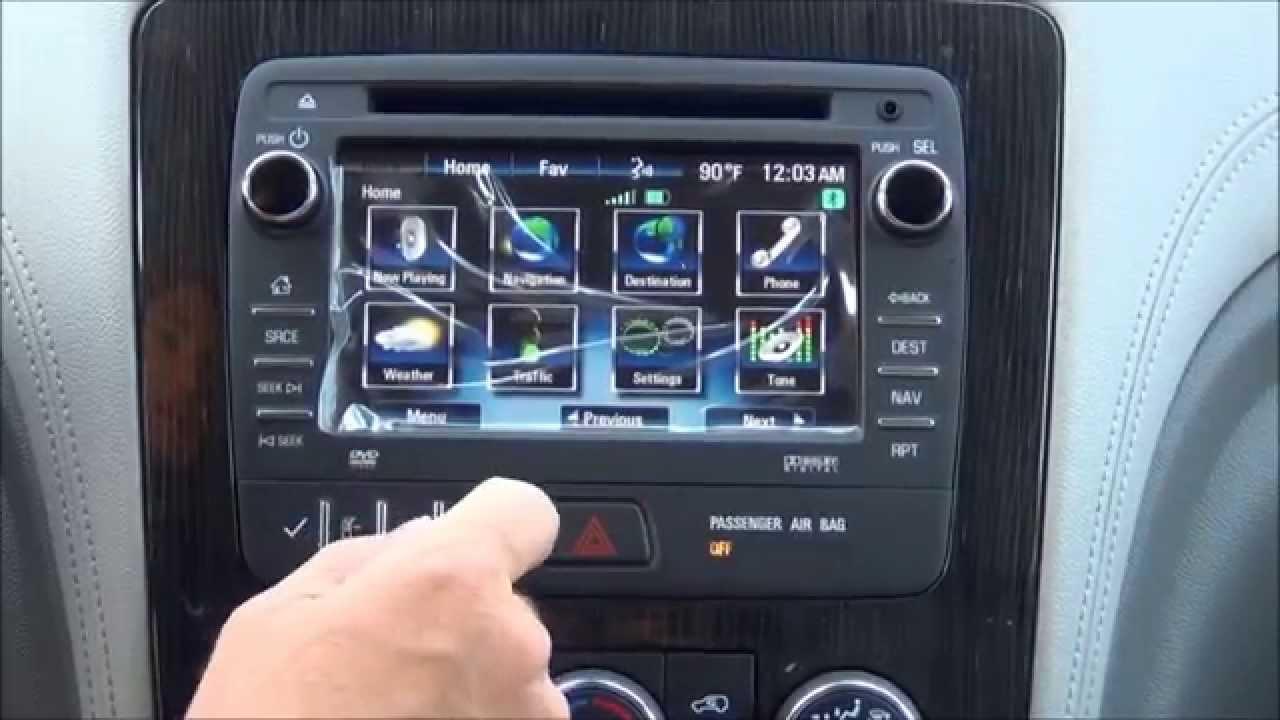 2013 2017 traverse enclave acadia factory gps navigation radio upgrade easy plug play install youtube
