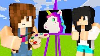 Minecraft Pixel Painters - DESENHANDO FLAMINGO & UNICÓRNIO