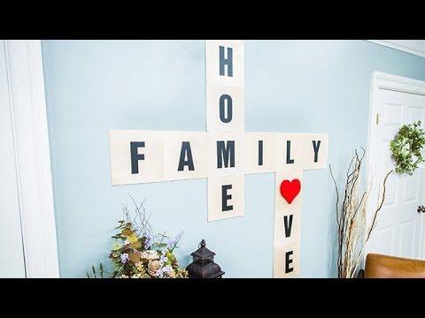 DIY Crossword Wall Art - Home & Family
