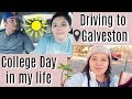 College Day In My Life: Driving to Galveston After Lectures!