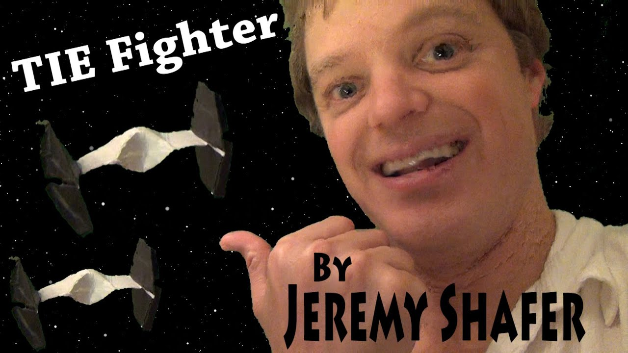 origami tie fighter tutorial by jeremy shafer youtube