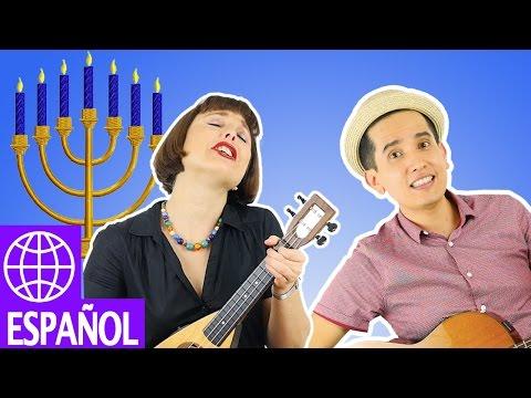 Hanukkah - Chanukah - Songs for Kids - Alina Celeste - Spanish - Dreidel Song