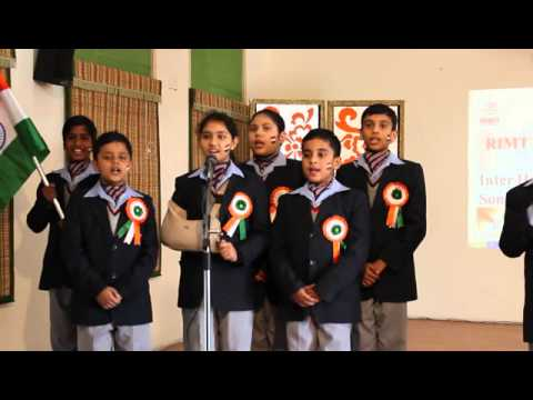 Winners of Inter House Patriotic Group Song Competition