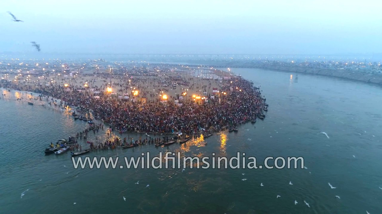 river ganges and yamuna meet at lake