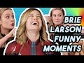 BRIE LARSON DIDN'T KNOW WHO CAPTAIN MARVEL WAS?! | FUNNY MOMENTS INTERVIEWS