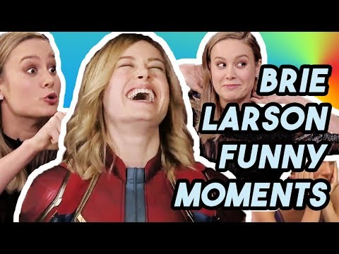 BRIE LARSON DIDN&39;T KNOW WHO CAPTAIN MARVEL WAS?  FUNNY MOMENTS S