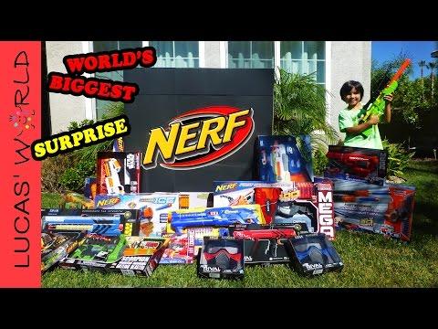 World's Biggest NERF Surprise Box NEW NERF RIVAL STAR WARS N-STRIKE Elite Toy Blasters | Lucas World